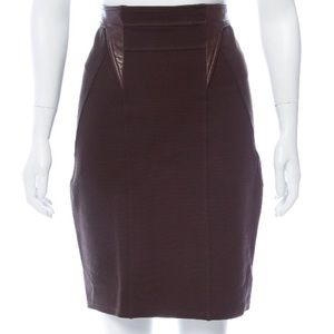 GIVENCHY Leather Trimmed Skirt MAJORLY DISCOUNTED!